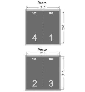 Dépliant 105x210 mm
