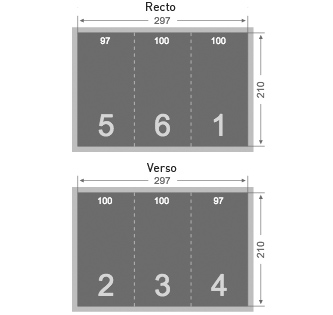 Dépliant 100x210 mm 3 volets