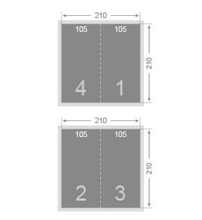 Dépliant 105x210 mm 2 volets