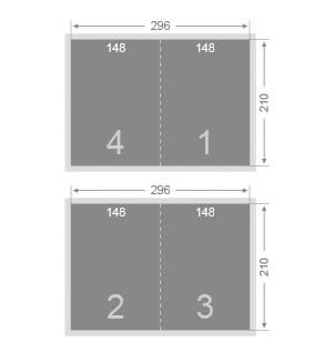 Dépliant 148x210 mm 2 volets
