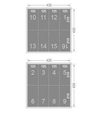 Dépliant 16 pages 105x210