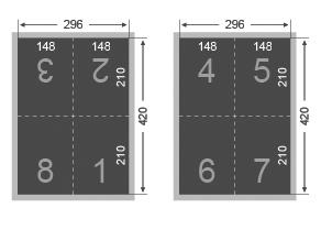 Dépliant 2 plis croisés 148x210