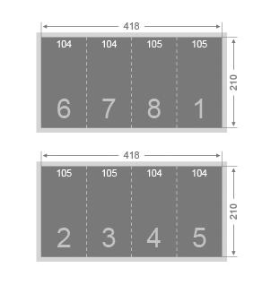 Dépliant 2 plis éco 105x210
