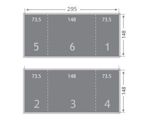 Dépliant 2 plis fenêtre 148x148