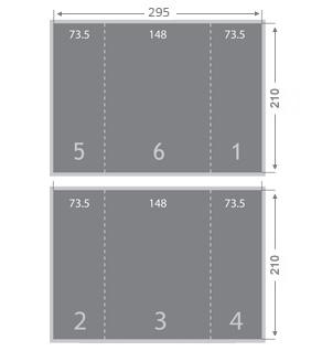 Dépliant 2 plis fenêtre 148x210