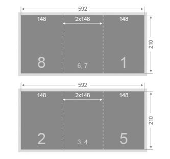 Dépliant 148x210 mm 4 volets
