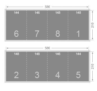 Dépliant 3 plis roulés 148x210