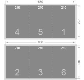 Dépliant 30x63 cm (3 volets A4)
