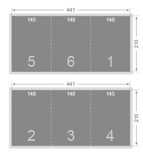 Dépliant 2 plis roulés 148x210