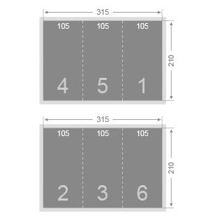 Dépliant 105x210 mm 3 volets