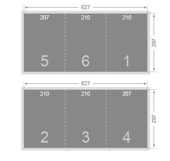 Dépliant 2 plis roulés 210x297