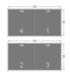 Dépliant carré 120x120 mm