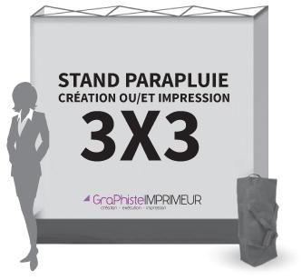 Stand Parapluie Droit 3x3