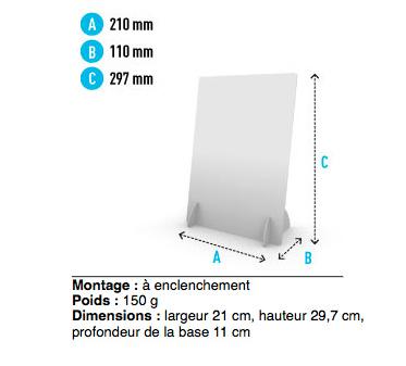 PLV comptoir verticale recto