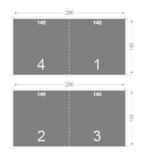 Plaquette carrée 148x148 mm
