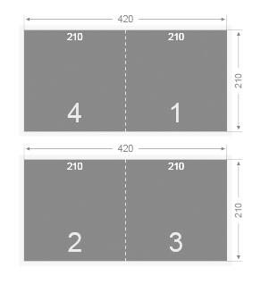Plaquette carrée (21x42 cm ouvert)
