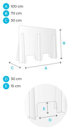 Plexiglass 100x70cm