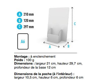 Présentoir carton pour flyers ou dépliants 10x21 cm
