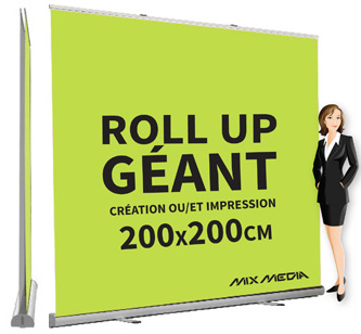 Roll Up Géant Recto Verso