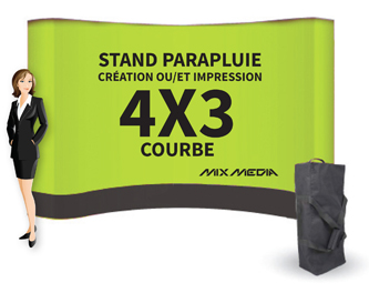 Stand Parapluie Courbe 4x3m
