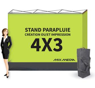 Stand Parapluie Droit 4x3m