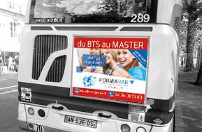 Affiche Arrière de Bus
