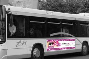Affiche Flanc de bus gauche 274x68 cm