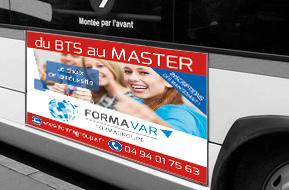 Affiche Flanc de bus droit 152x68 cm