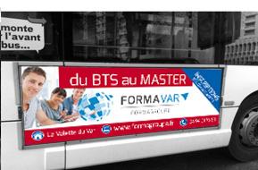 Affiche Flanc de bus droit 192x68 cm