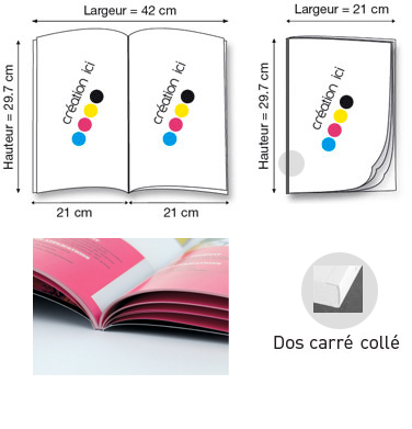 Brochure A4 Dos Carre Collé