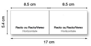 Cartes doubles horizontales
